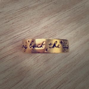 """Bring Back The Light"" Fashion Ring 14k plated"